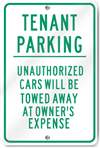 Tenant Parking Metal Sign