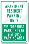 Apartment Resident Parking Only Metal Sign