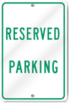 Reserved Parking Metal Sign