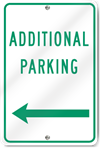 Additional Parking Left Arrow Metal Sign