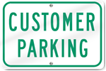 Horizontal Customer Parking Sign