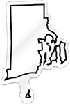 Rhode Island Shaped Magnet