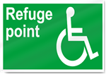 Disabled Refuge Point Safety Signs
