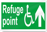 Disabled Refuge Point Up Safety Signs