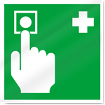 Emergency Button Safety Signs