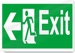 Exit Left Safety Signs