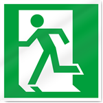 Exit Left Symbol Safety Signs