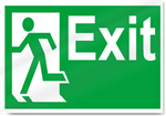 Exit Left2 Safety Signs