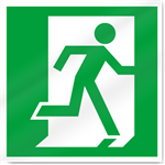 Exit Right Symbol Safety Signs