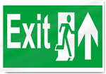 Exit Up Safety Signs