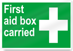 First Aid Box Carried Safety Signs