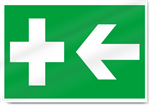 First Aid Box Left Safety Signs