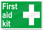 First Aid Kit Safety Signs