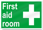 First Aid Room Safety Signs
