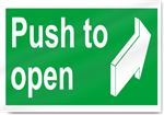 Push To Open Safety Signs