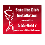 Satellite Dish Installation Sign