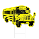 School Bus Shaped Sign