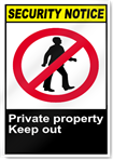 Private Property Keep Out Security Signs