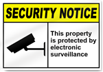 This Property Is Protected By Electronic Surveillance Security Signs
