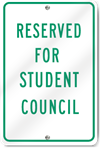 Reserved For Student Council