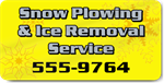 Snow Plowing and Ice Removal Service Magnet