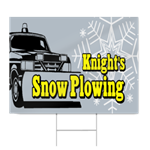 Snow Plowing Sign