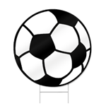 Soccer Ball Shaped Sign