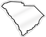 South Carolina Shaped Magnet