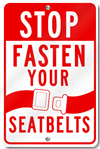 Stop Fasten Your Seatbelts Sign
