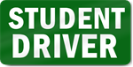 Green Student Driver Magnet