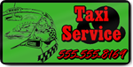 Green Taxi Service Magnet
