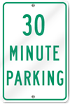 Thirty Minute Parking Sign