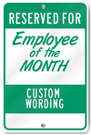 Employee Of The Month Custom Sign