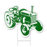 Tractor Shaped Sign
