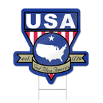 USA Badge Shaped Sign