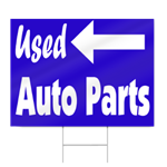 Used Auto Parts Sign
