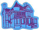 Victorian House Shaped Magnet