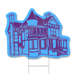 Victorian House Shaped Sign