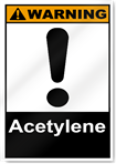 Acetylene Warning Signs
