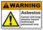 Asbestos Cancer And Lung Disease Hazard Warning Signs