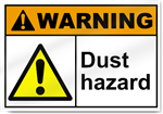 Dust Hazard Warning Sign