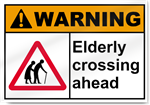 Elderly Crossing Ahead Warning Sign