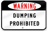 Warning Dumping Prohibited Sign