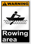 Rowing Area Warning Signs