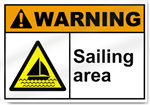 Sailing Area Warning Signs
