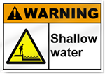 Shallow Water Warning Signs