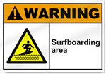 Surfboarding Area Warning Signs