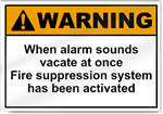 When Alarm Sounds Vacate At Once Warning Signs