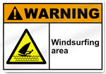 Windsurfing Area Warning Signs