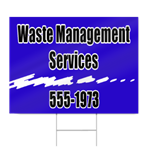Waste Management Services Sign